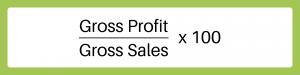 (Gross Profit/Gross Sales)x100