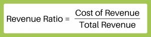 Revenue Ratio = Cost of Sales/Total Revenue